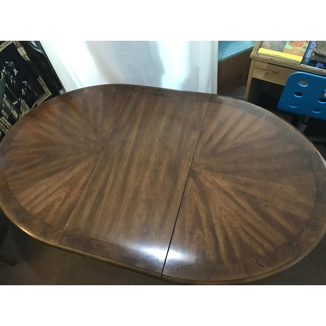 Henredon Star Burst Dining Table Set and Two Leaves For Sale - Image 5 of 7