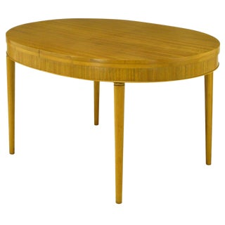 Primavera Mahogany Racetrack Oval Dining Table For Sale