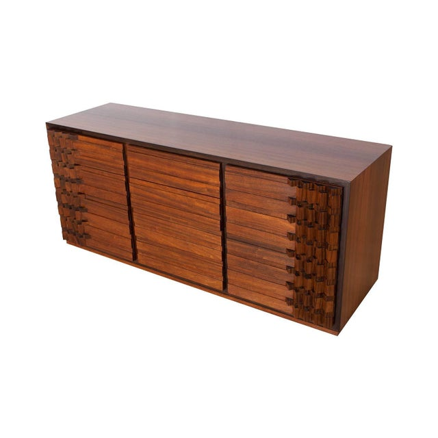 Luciano Frigerio Chest of Drawers in Walnut For Sale - Image 6 of 12