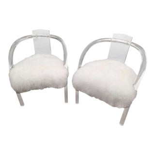 Mid 20th Century Charles Hollis Jones Lucite Chairs - a Pair For Sale