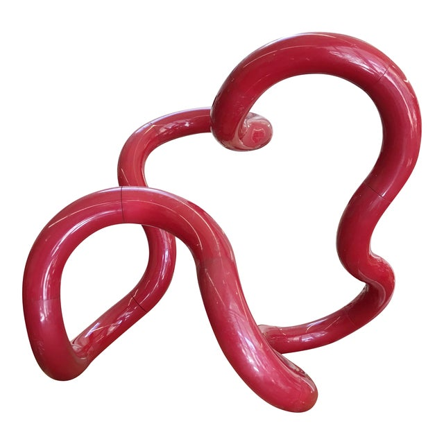 Richard X Zawitz Museum Size Tangle Sculpture Red For Sale