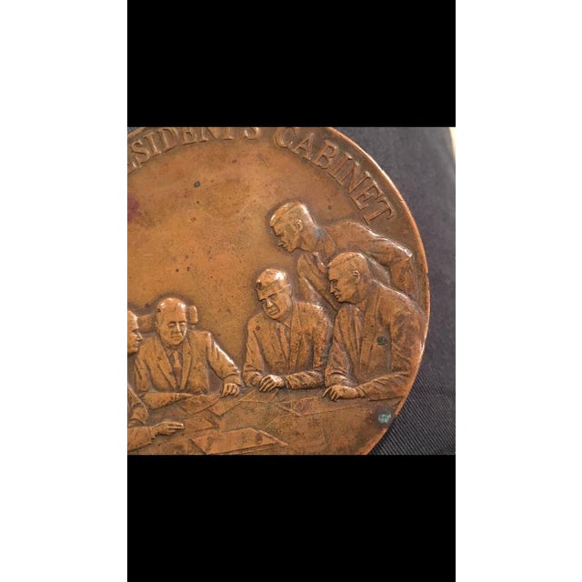 Maco Ny Bronze Medallion President Paperweight For Sale In Nashville - Image 6 of 7