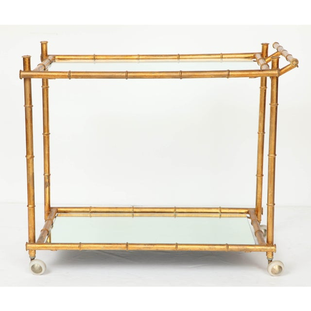 Italian Gilt Iron Stylized Bamboo Serving / Bar Cart For Sale - Image 11 of 11