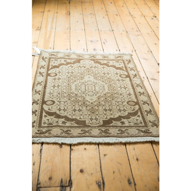 "Vintage Bijar Square Rug - 2'6"" X 3' For Sale In New York - Image 6 of 9"