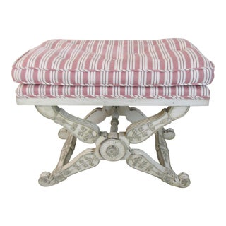 1900s Antique French Louis XVI Style Ottoman For Sale