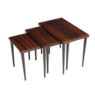 Danish Rosewood Nesting Side Tables