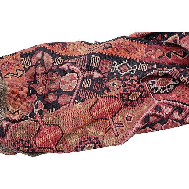 """Antique Caucasian Kilim - 13'4"""" X 5'7"""" - Image 4 of 5"""