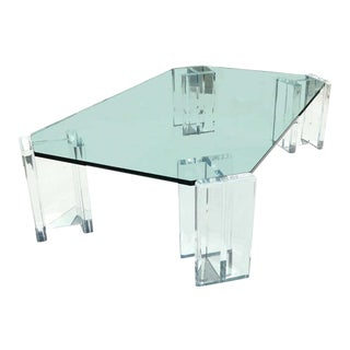 Lucite Coffee TableIn in the Style of Karl Springer For Sale