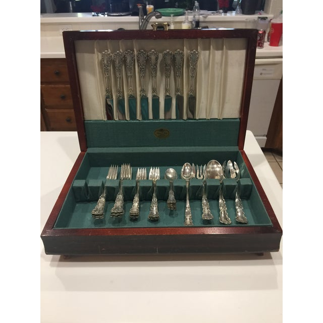 Silver 1950s Vintage Gorham Buttercup Sterling Silver Flatware - 40 Pieces For Sale - Image 8 of 9