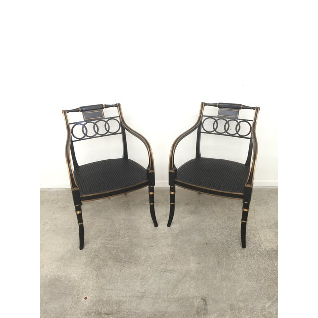 Wood Baker Furniture Governor Alston Chairs - Set of 6 For Sale - Image 7 of 11
