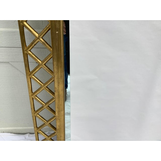 1970s Regency Style Gilt Wood Mirror For Sale - Image 5 of 10