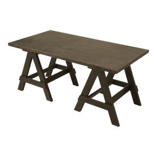 Industrial Zinc Top Desk For Sale