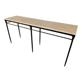 Bernhardt Desmond Agate Stone Top Console Table For Sale