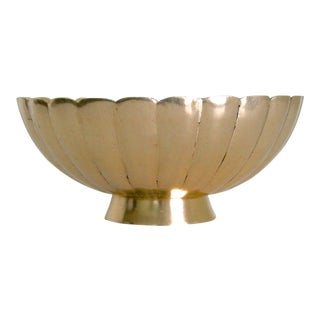 Vintage Mid-Century Brass Scallop Catchall Bowl For Sale
