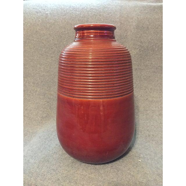 Italian Mid-Century Modern Terra Cotta Vase For Sale - Image 4 of 12