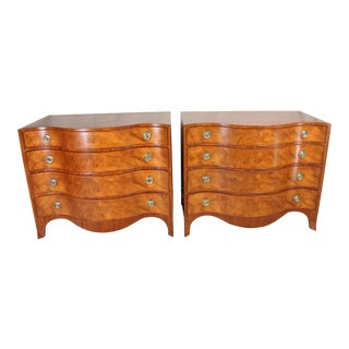 20th C. Mahogany Four Drawer Chests - A Pair