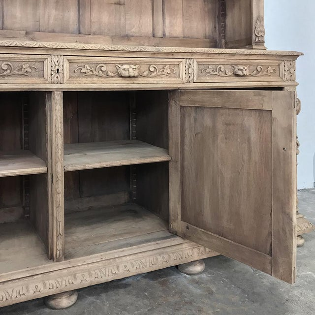 19th Century French Renaissance Stripped Oak Bookcase For Sale In Dallas - Image 6 of 13