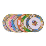 Image of Enamaled Tin English Plates - Set of 6 For Sale
