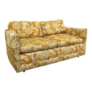 Mid-Century Danish Modern Vintage Milo Baughman Forecast Loveseat Sofa For Sale