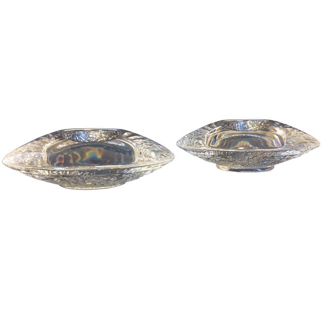 Orrefors Ice Glass UFO Votives - A Pair For Sale