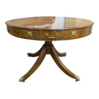 Maitland- Smith Satinwood and Burlwood Drum Table