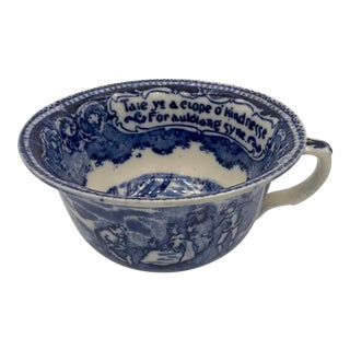 "19th Century Antique ""Auld Lang Syne"" English Mush Cup For Sale"