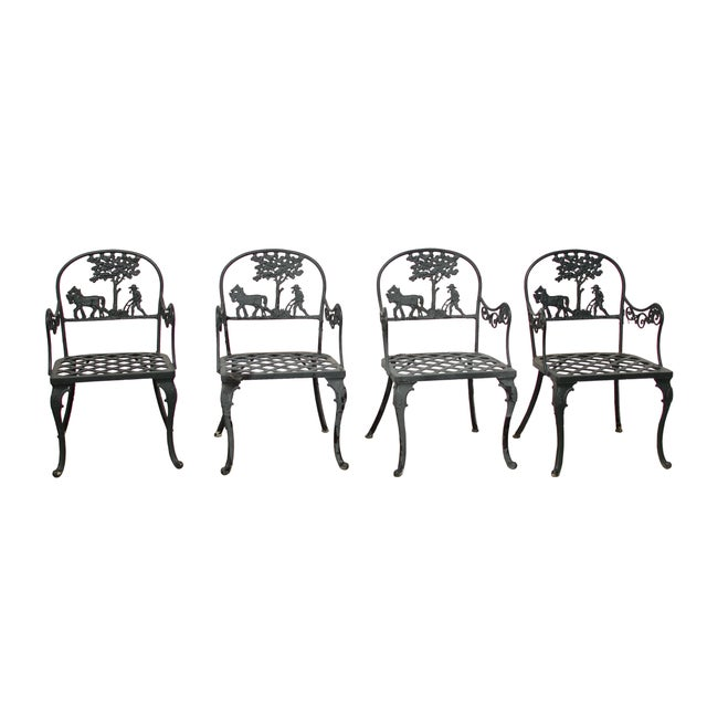 Vintage Cast Aluminum Garden Chairs - Image 1 of 6