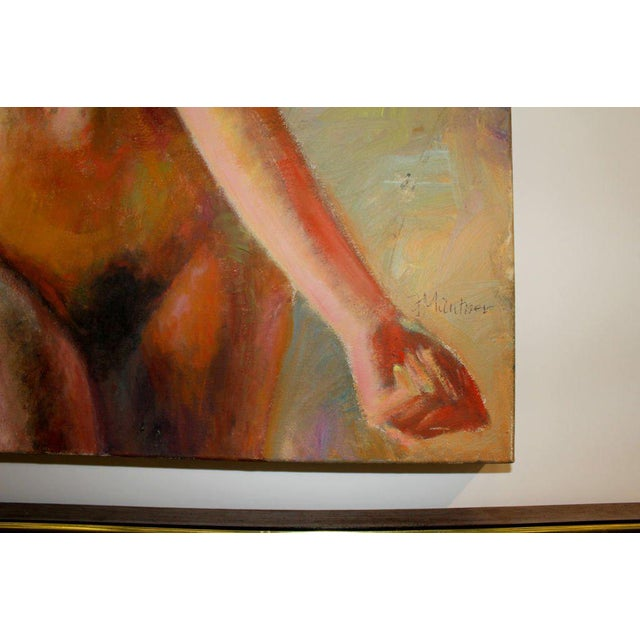 Mid 20th Century Nude Oil Painting on Canvas Signed Mautner For Sale - Image 5 of 7