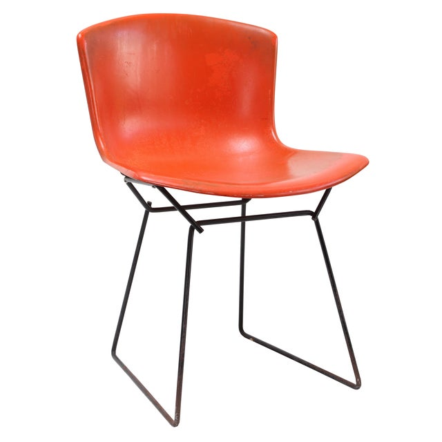 Knoll Bertoia Fiberglass Side Chair Red-Orange - Image 1 of 11