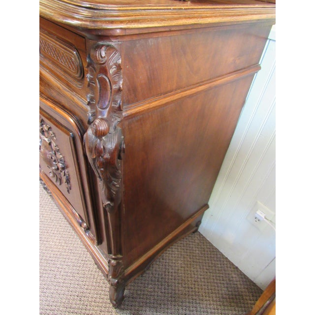 1900 - 1909 1900 French Walnut China Cabinet For Sale - Image 5 of 13