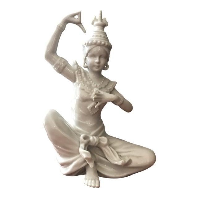 Vintage Blanc De Chin Thai Siam Porcelain Figurine For Sale