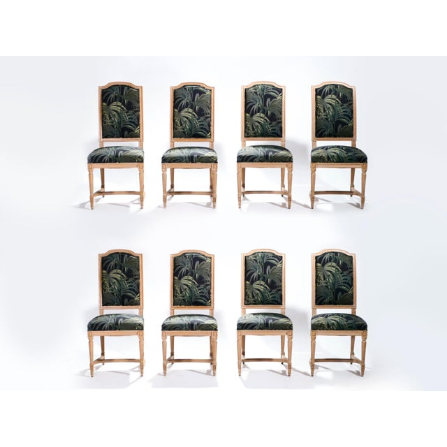 Set of Eight Louis XV Style Chairs, 1950s For Sale - Image 10 of 11