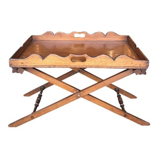 19th C English Mahogany Butler's Tray For Sale