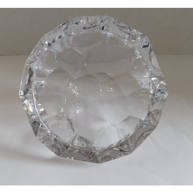 Orrefors Orrefors Sweden Small Cut Crystal Bowl For Sale - Image 4 of 12