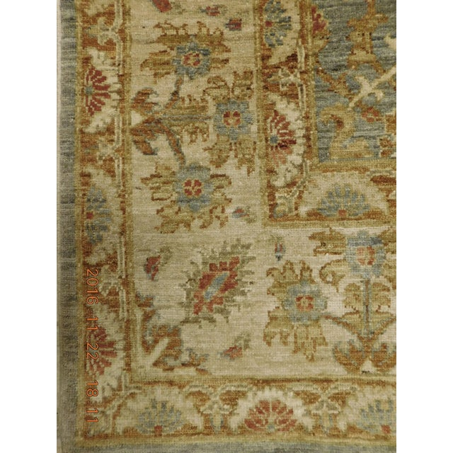 Green Hand Knotted Green and Yellow Afghan Rug - 6'x 9' For Sale - Image 8 of 10