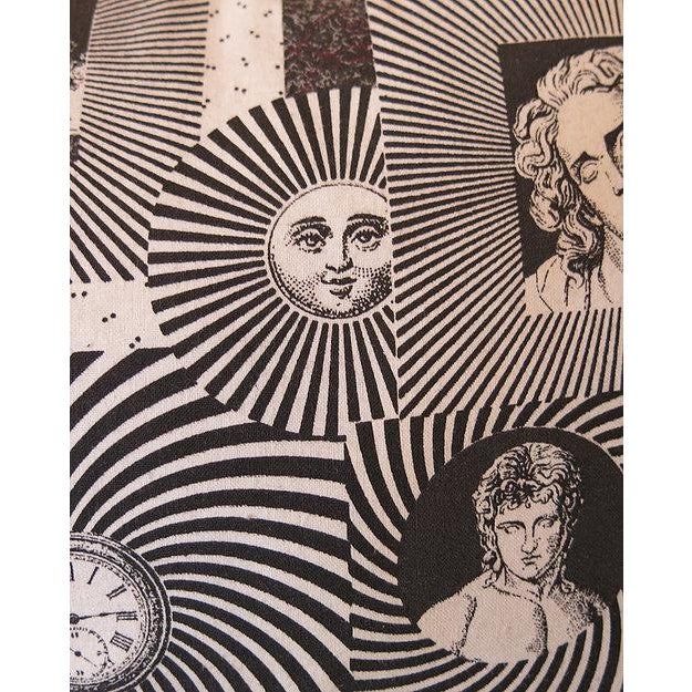Pair of original 1950s Fornasetti fabric cushions backed with dark grey linen. Measurements Height - 15 Inches / 38 cm...