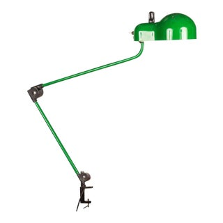 Joe Colombo 'Topo' Green Task Lamp for Stilnovo, circa 1970