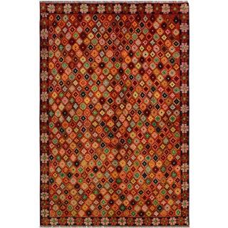Vintage Balouchi Arya Antione Wool Rug - 5′8″ × 7′8″ For Sale