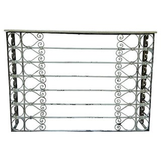Vintage Charleston Wrought Iron Console Table For Sale