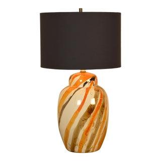 Vintage 1970s Marbled Lamp For Sale