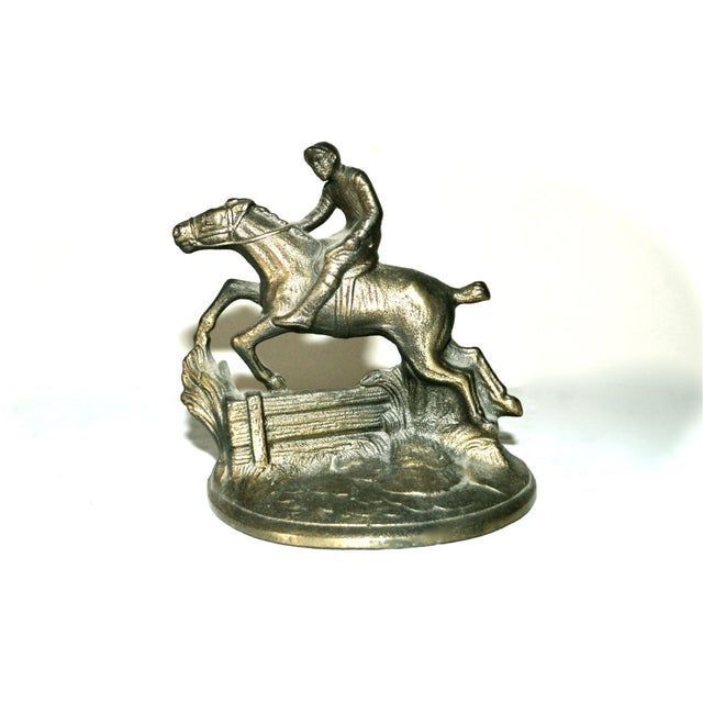 Americana Hubley Horse and Rider Bookends - a Pair For Sale - Image 3 of 8