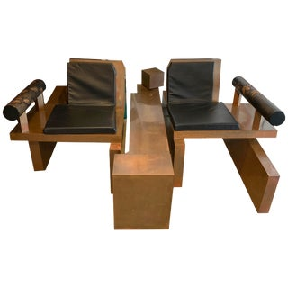 Copper Clad Chairs and Table - Set of 3 For Sale