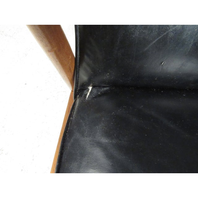 Black Pair of Vintage Modern Armchairs For Sale - Image 8 of 13