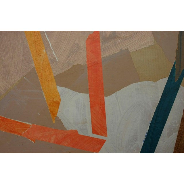 1970s Painted Paper Collage by Trevor Jones For Sale - Image 5 of 6