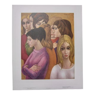 "1960s Vintage Margaret Keane Big Eye Lithograph ""The Freshman"" For Sale"