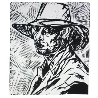 "Rob Delamater ""Duncan Grant I"" Linoleum Block Print, 2009 For Sale"