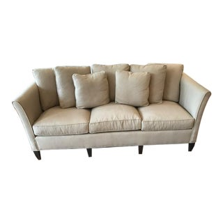 Custom Transitional Khaki Sofa