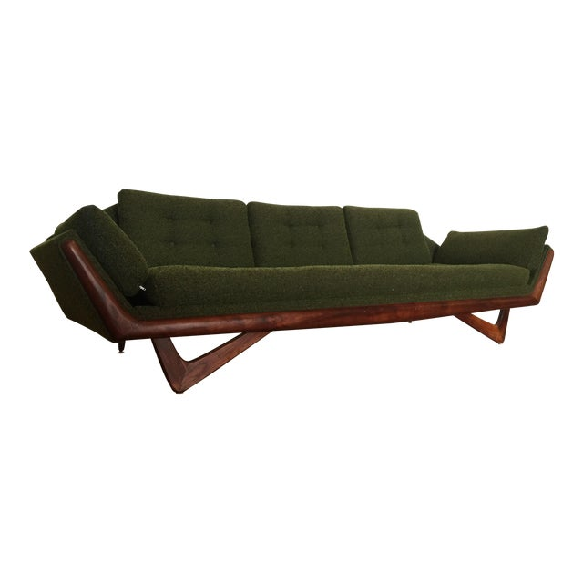 Adrian Pearsall Craft Associates Mid-Century Gondola Sofa - Image 1 of 11