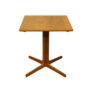 20th Century Danish Modern o.d. Mobler Solid Teak Square Accent Table For Sale