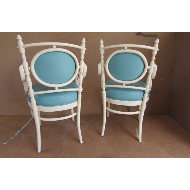 Palm Beach Regency Bentwood Chairs - Pair - Image 4 of 4